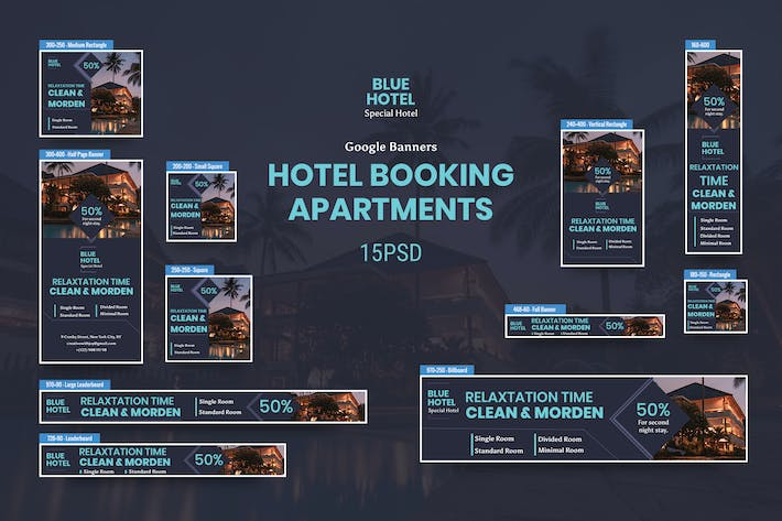 Thumbnail for Hotel Banners Ad PSD Template