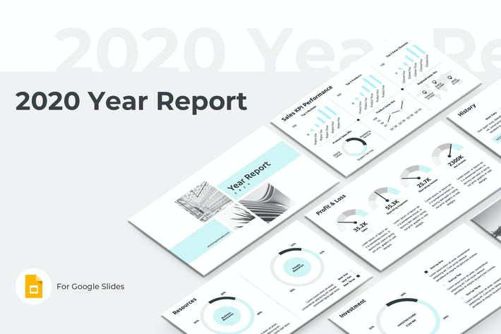 Thumbnail for 2020 Year Report Google Slides Template
