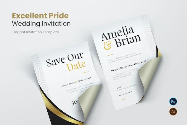 Excellent Pride Wedding Invitation