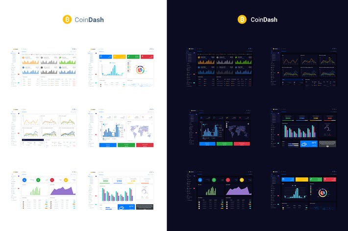 Thumbnail for Cryptocurrency Dashboard Admin Template - Coindash