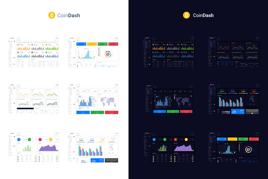 Cryptocurrency Dashboard Admin Template - Coindash