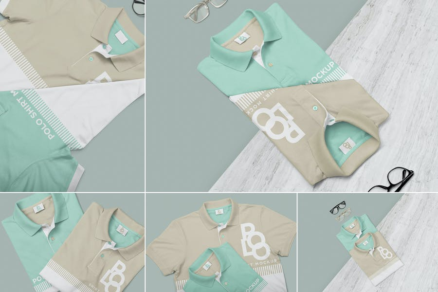 Stylish Polo Shirt Mockups