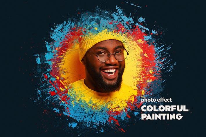 Paint Splatters Photo Effect