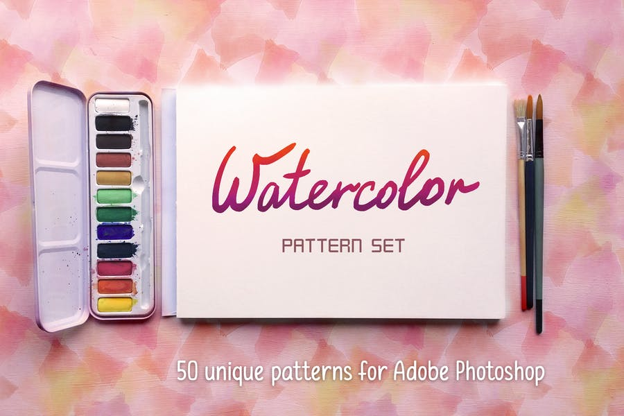 Watercolor Pattern Set #1