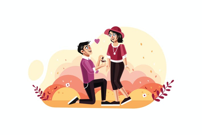 Cover Image For Man proposes a woman to marry