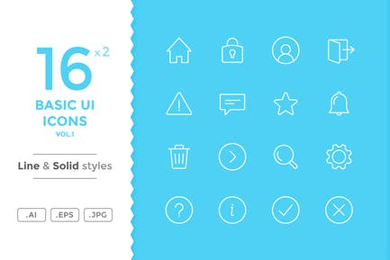 Grundlegende UIcons (Vol.1)