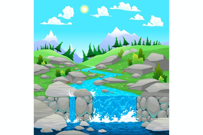 Thumbnail for Mountain Landscape with River