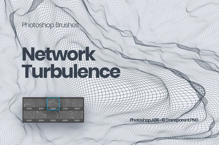 Thumbnail for Network Turbulence Photoshop Brushes