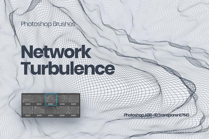 Cover Image For Network Turbulence Photoshop Brushes