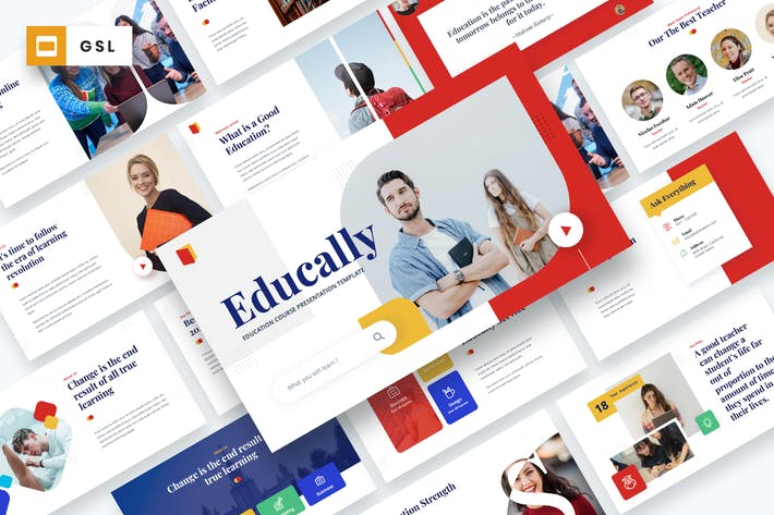 Thumbnail for Educally - Education Course Google Slides Template