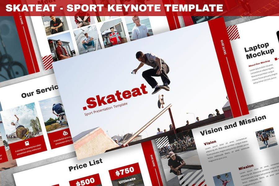 Skateat - Sport Keynote Template