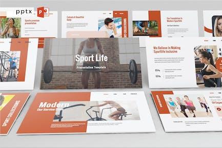 SPORT LIFE - Powerpoint V585
