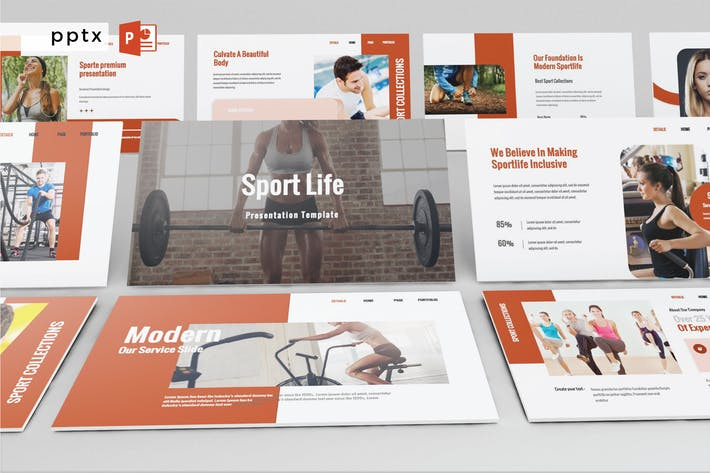 Thumbnail for SPORT LIFE - Powerpoint V585