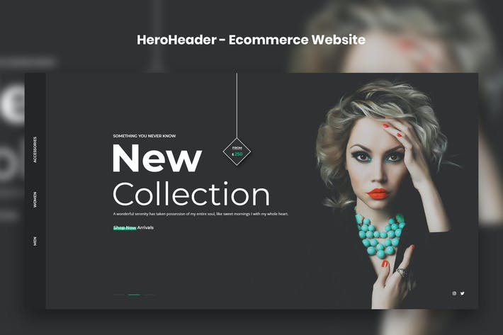 Thumbnail for HeroHeader for Ecommerce Website-03