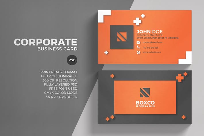 Thumbnail for Red Corporate Business Card