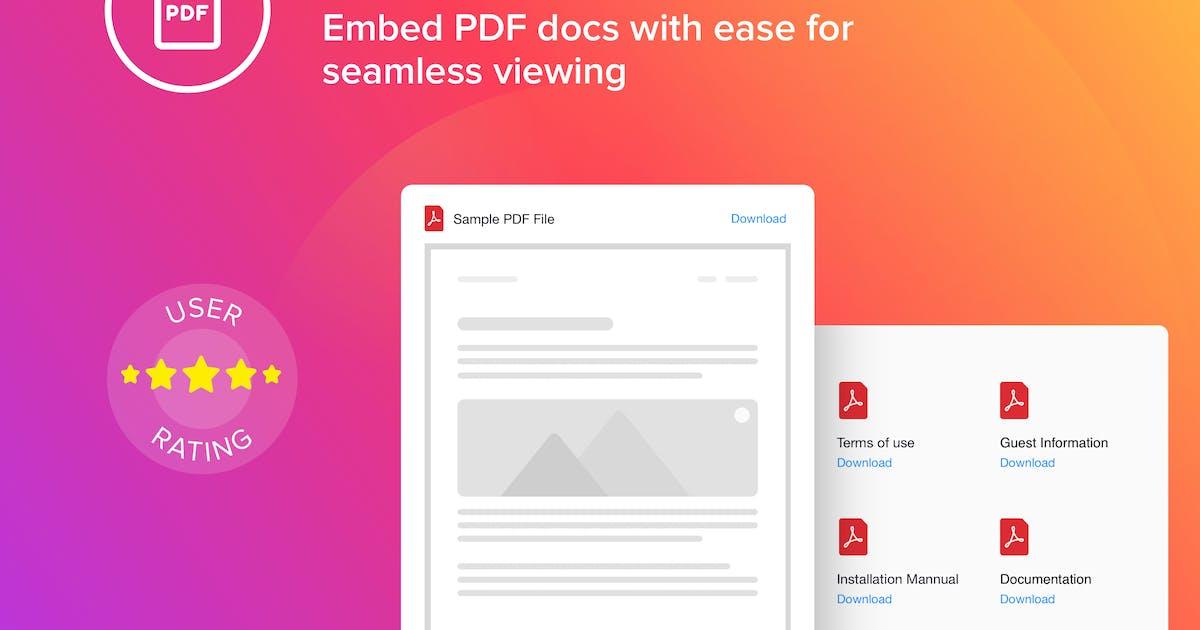 Download WordPress PDF Embed - Viewer Plugin by Elfsight