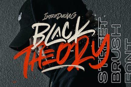 BLACK THEORY - Brush Logotype Urban Font