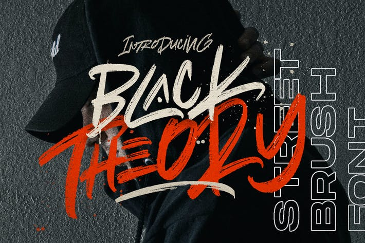 Thumbnail for BLACK THEORY - Brush Logotype Urban Font