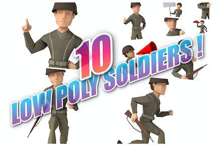 10 niedere Poly-Soldaten!