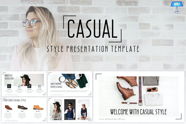 Thumbnail for Casual - Keynote Template