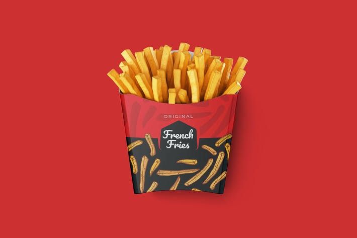 Thumbnail for French Fries Cup Packaging - Scalable