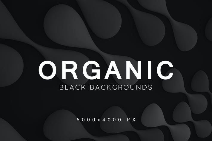 Thumbnail for Black Organic Backgrounds 3