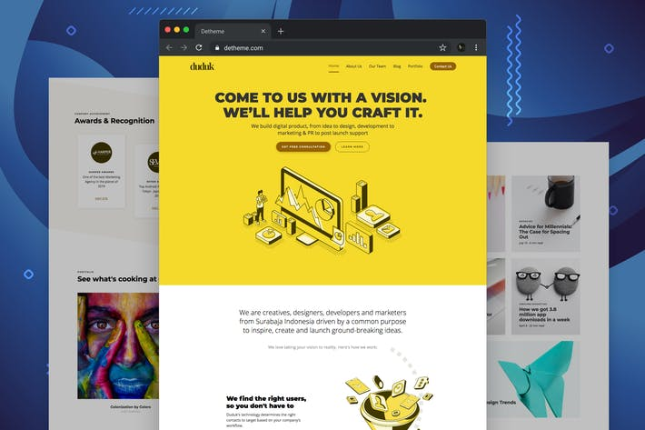 Thumbnail for Duduk - Digital Agency HTML Template