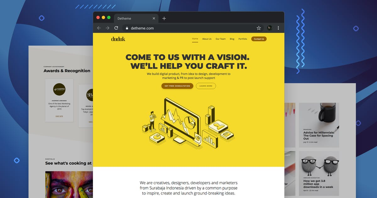 Download Duduk - Digital Agency HTML Template by deTheme