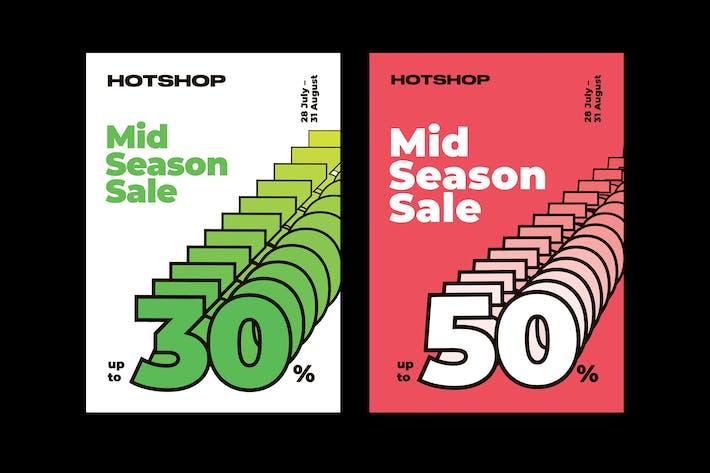 Mid Season Sale Poster