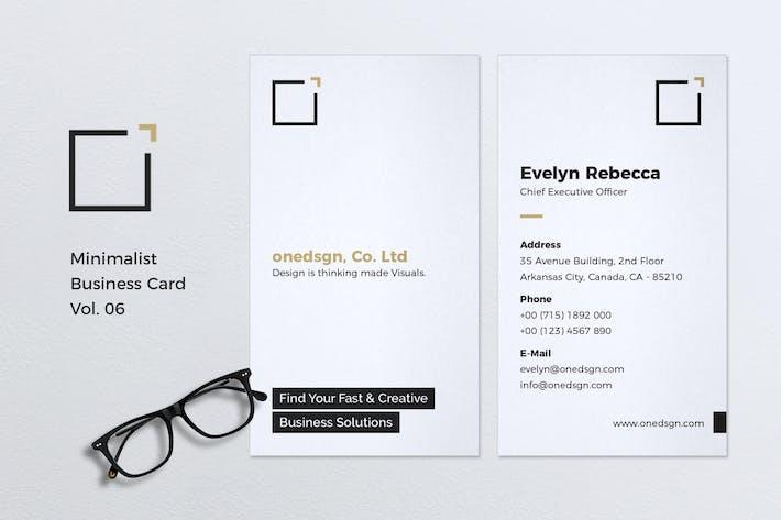 Thumbnail for Minimalist Business Card Vol. 06