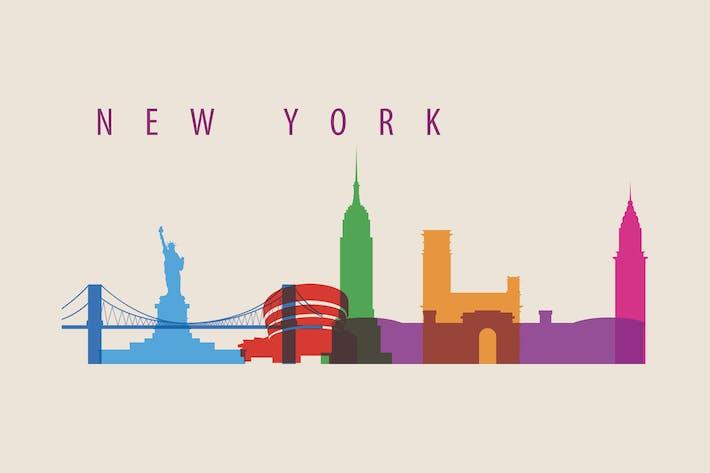 New York City, Skyline USA