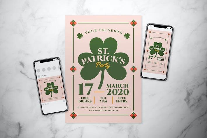 Ensemble de dépliant de fête St. Patrick