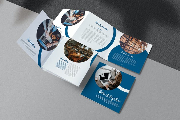 Thumbnail for Education Square Trifold Brochure