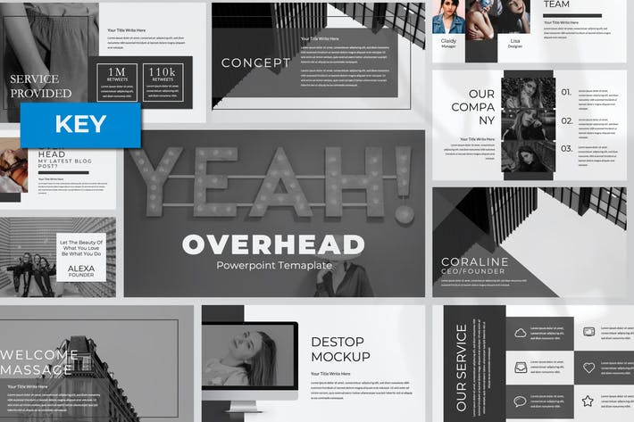 Thumbnail for Overhead Keynote Template