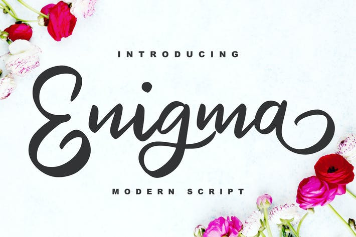 Thumbnail for Enigma | Modern Script Font