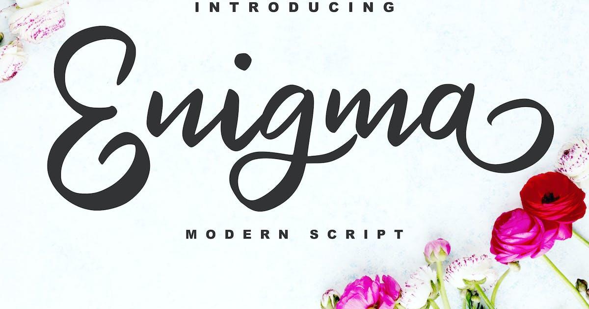 Download Enigma   Modern Script Font by Vunira