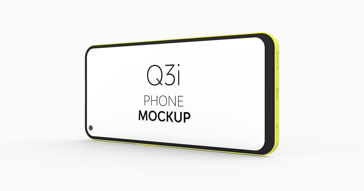 Download Q3i Phone Mockup by UnicDesign