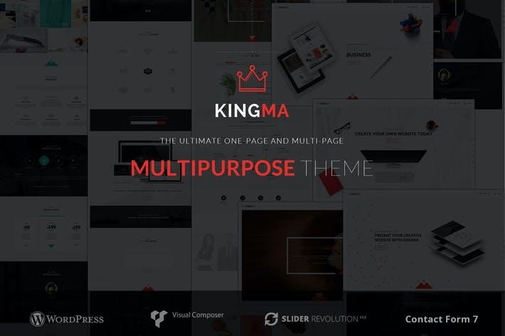 Cover Image For KingMa | Creative Business One & MultiPage Theme