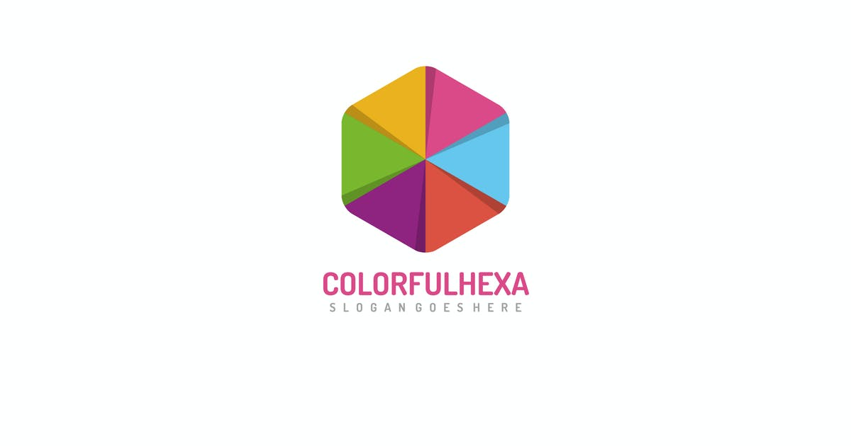 Download Colorful Hexagon Logo by 3ab2ou