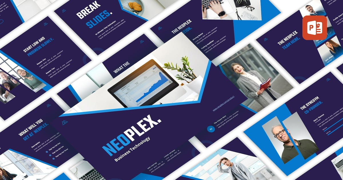 Download Neoplex - Business Technology PowerPoint Template by CocoTemplates
