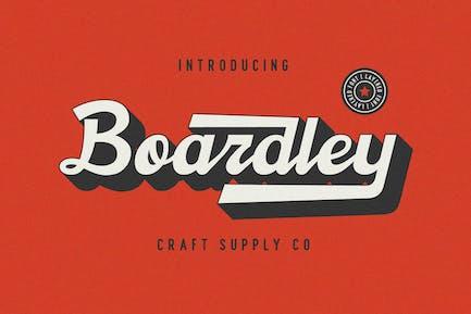 Boardley Script - Fuente en capas