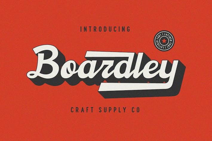 Thumbnail for Boardley Script - Fuente en capas