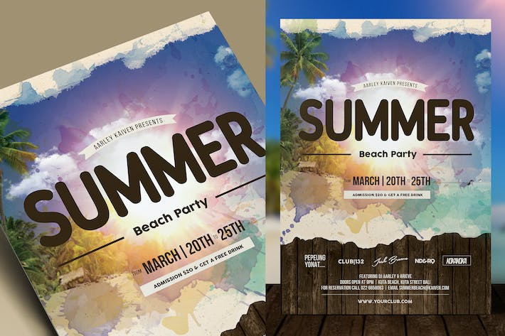 Cover Image For Summer Holiday Event Flyer