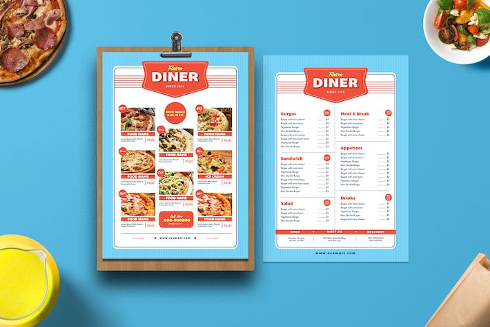 Thumbnail for Retro diner Menu