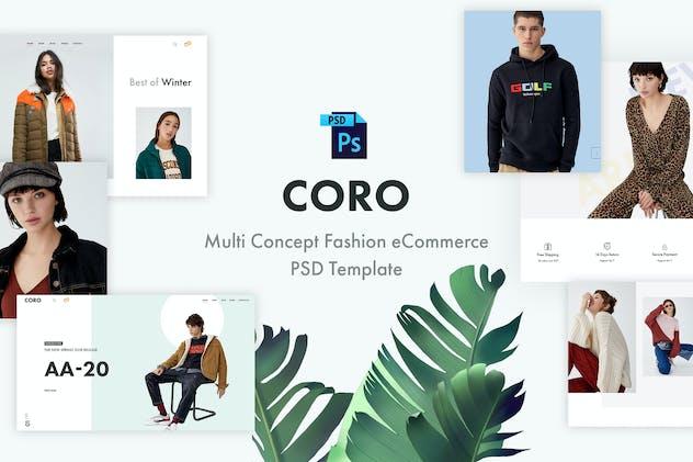 Coro | Fashion eCommerce PSD Template