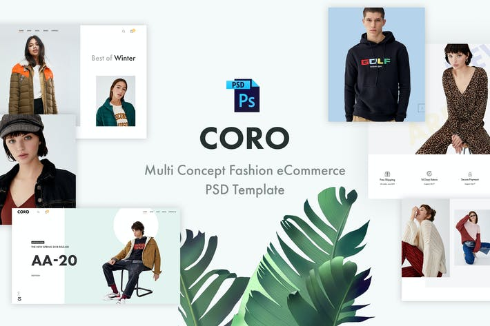 Thumbnail for Coro | Fashion eCommerce PSD Template