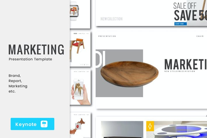 Thumbnail for Marketing Keynote Template - JJ