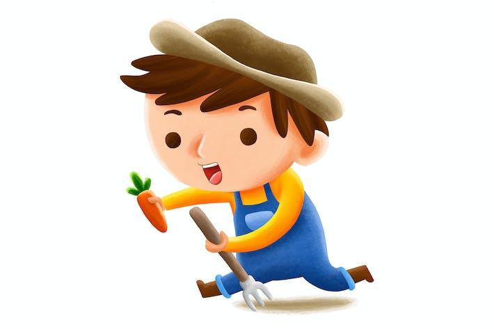 Thumbnail for Farmer Profession — Kids Illustration