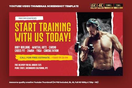 Fitness YouTube Video Thumbnail Screenshot