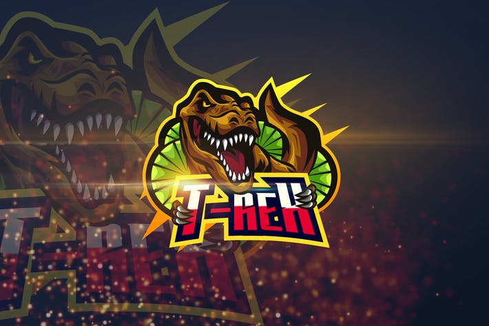 Thumbnail for T-Rex - AI and PSD eSport Logo Template